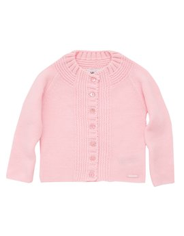 Baby Dior, Baby Girls Pink Knit Cardigan
