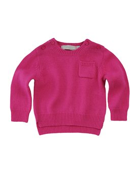 Stella McCartney Kids, Baby Girl Bright Pink Wool and Cashmere Sweater