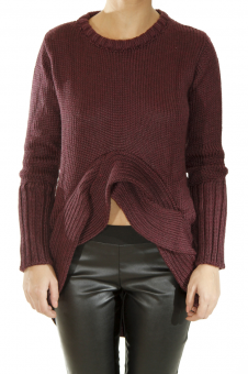 Chunky Knit Sweater with Waist Detail