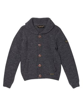 Finger in the Nose, Boys Dark Heather Grey Cardigan