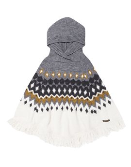 Finger in the Nose, Girls Off White Jacquard Poncho
