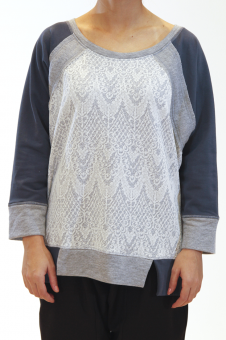 Panelled Lace Sweater