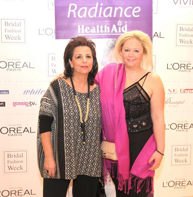 Η δυναμική παρουσία της Health Aid στην επίδειξη του Μιχάλη Μανιάτη εκπροσωπήθηκε από την Ραλία Τερζοπούλου και την Ρίτα Σταματάκη-Βέργου