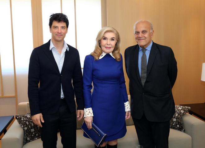 Σάκης Ρουβάς, Μαριάννα Βαρδινογιάννη, Δρ. Μαγκντί Γιακούμπ
