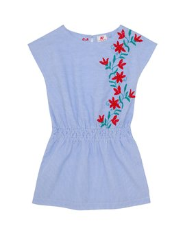 AMERICAN OUTFITTERS Girls Blue Cotton Embroidered Sundress