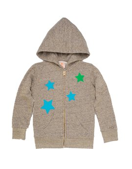 AMERICAN OUTFITTERS Girls Lurex Star Hooded Sweat Jacket