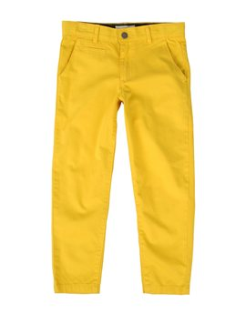 Boys Yellow Cotton Chino Trousers