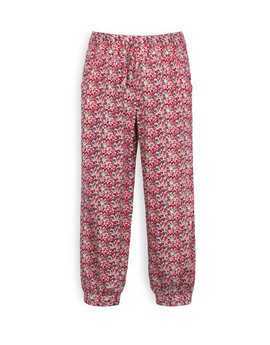 TROIZENFANTS Girls Fuchsia Floral Summer Trousers