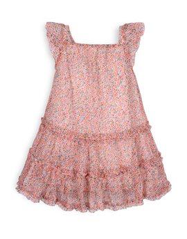 TROIZENFANTS Girls Floral Print Summer Dress