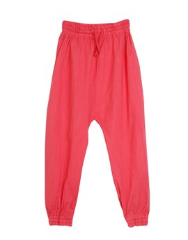 Girls Cotton Baggy Red Trousers