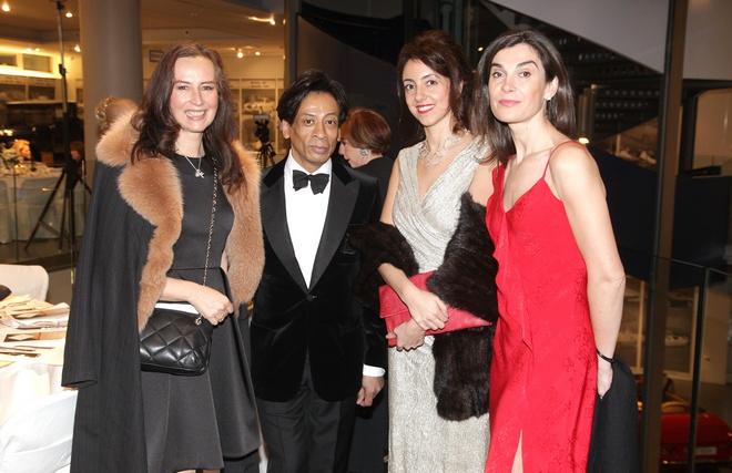 Faberge chic: Katharina Flohr, Rene Serres, Maria Veronica Favoroso, Aline Thomson