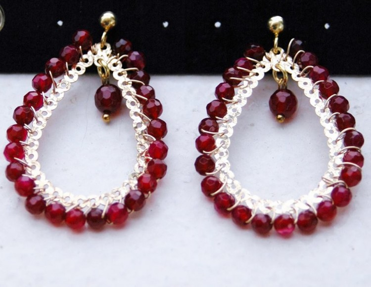 Pieris Ruby Big Drop Earrings