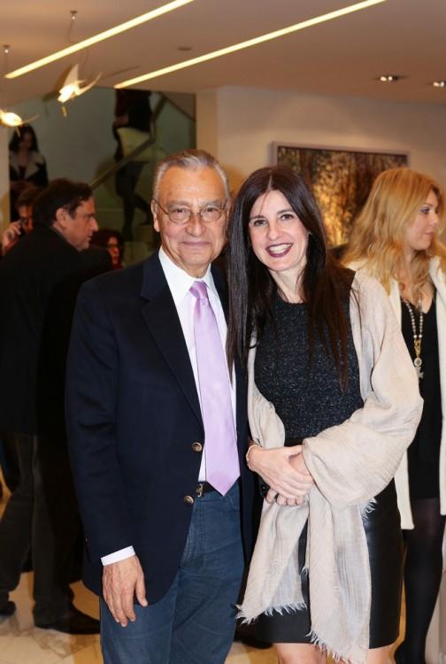 Ο Πρόεδρος του Ιδρύματος, Βασίλης Θεοχαράκης με την κόρη του Ντένη