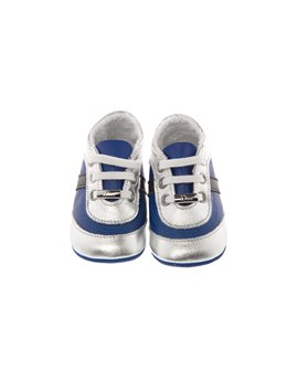 Blue Soft Leather Baby Lace Up Shoes