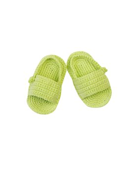 Baby Girls Lime Knitted Sandals