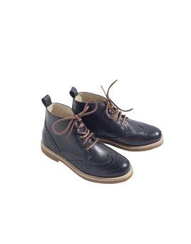 Boys Cambridge Black Leather Boots
