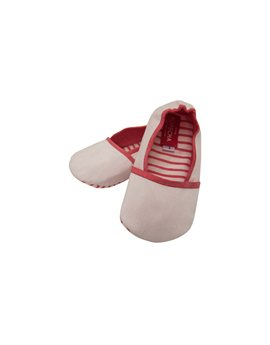 Baby Boy Red Stripes Soft Silk and Cotton Shoe