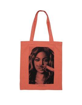 Girls Orange Cotton Bag with Beyonc? Print