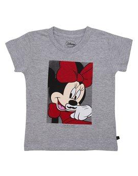 Girls Grey 'Minnie Mouse' T-Shirt