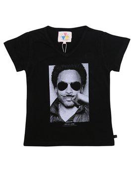 Unisex Black 'Lenny Kravitz' T-Shirt