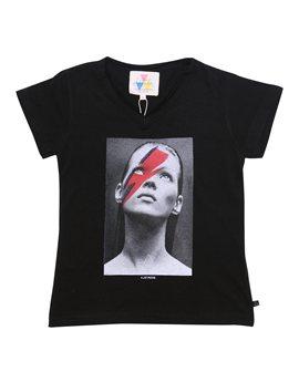 "Unisex Black ""Kate Moss"" T-Shirt"