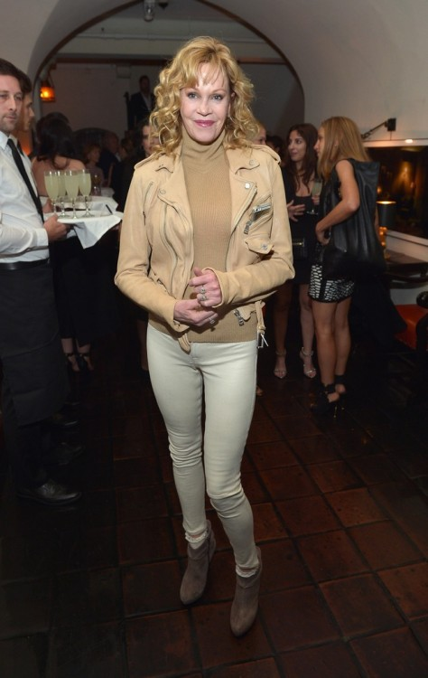 Melanie Griffith στο δείπνο που παρατέθηκε προς τιμήν της Annie Leibovitz με αφορμή την κυκλοφορία του βιβλίου της, στο Chateau Marmont