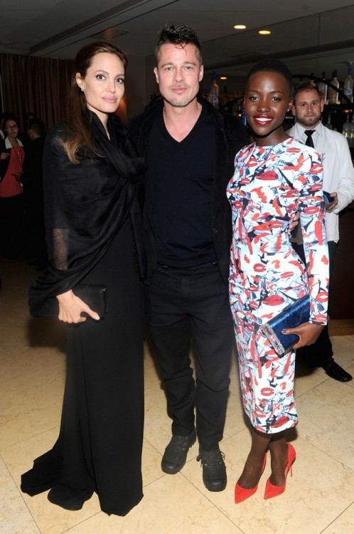 Angelina Jollie, Brad Pitt, Lupita Nyongo