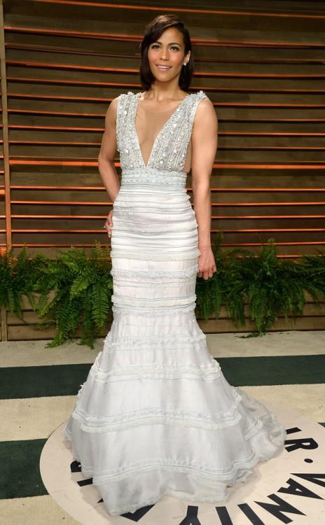 Η Paula Patton, στο πάρτι του Vanity Fair με δημιουργία Celia Kritharioti Haute Couture