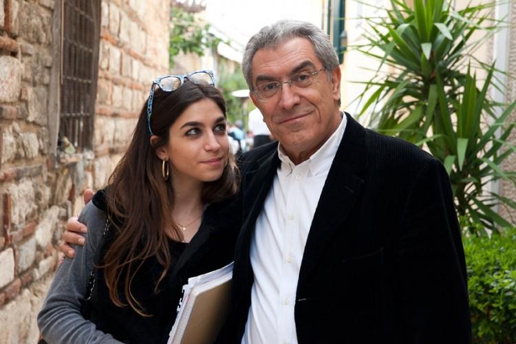 Η Βάσια με τον πατέρα της, Βασίλη Καπερνάρο