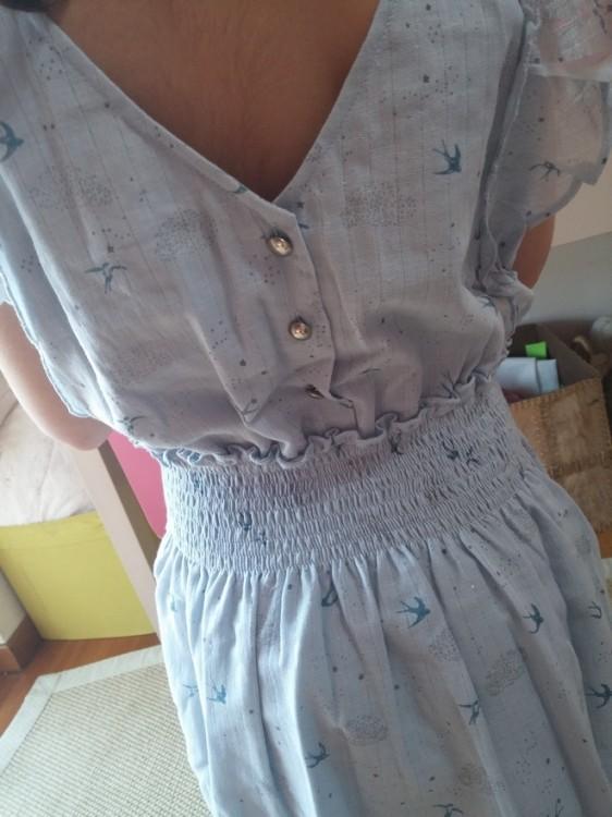 blue dress closer