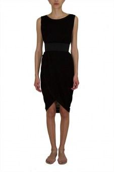 Sleeveless boat-neck Dress