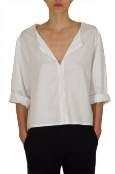 Loose-fit Top with front openning