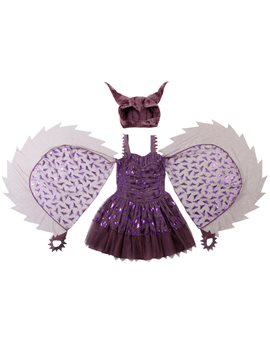 Girls Purple Maleficent Dress