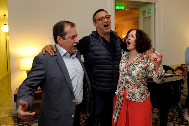 κ. Χριστόπουλος, Γιώργος Ντάβλας, Έλενα Κελεσίδη