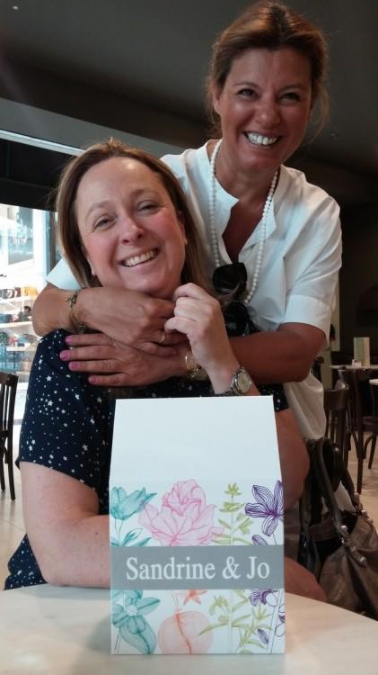 Με την Σάντρα Ναχμία, η οποία μας προμηθεύει με τα high end Ελληνικά προϊόντα της...