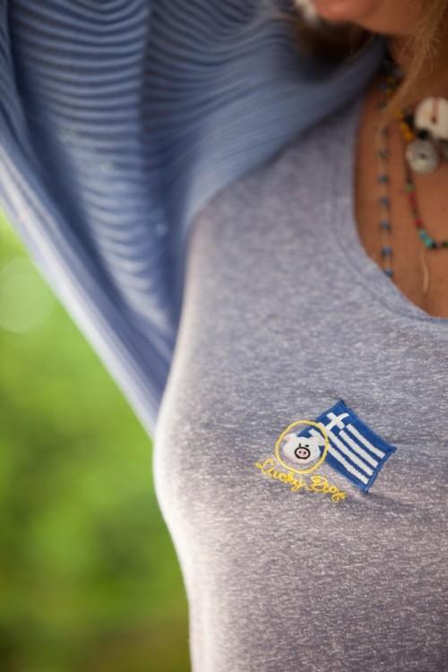 Το φοράω με το αγαπημένο μου T-Shirt από τo Lucky Pig...