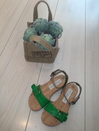 Girls Apple Green Linda Sandals