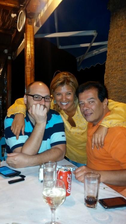 Με τον Γιώργο Νικολαϊδη και τον Δημήτρη Γκοσμάνη