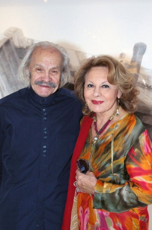 Ο Χρίστος Καράς με την σύζυγο του, Νίτα Παγώνη