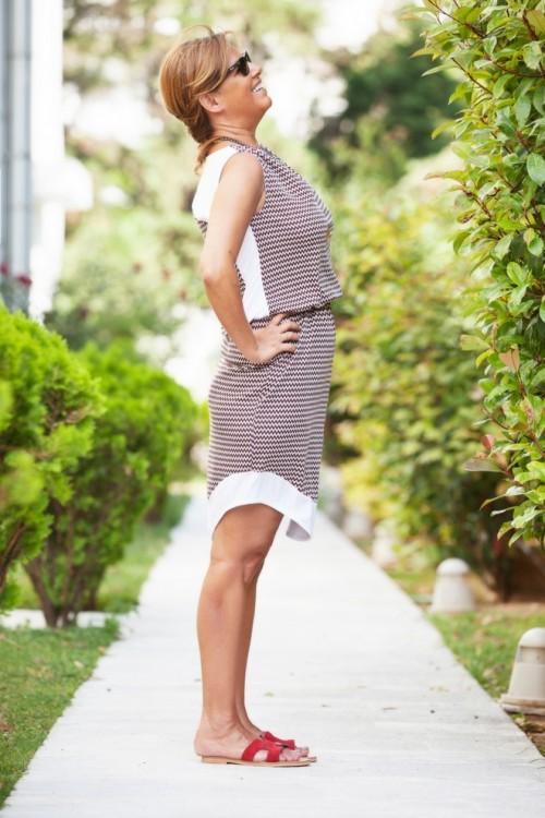 Jersey multicoloured dress