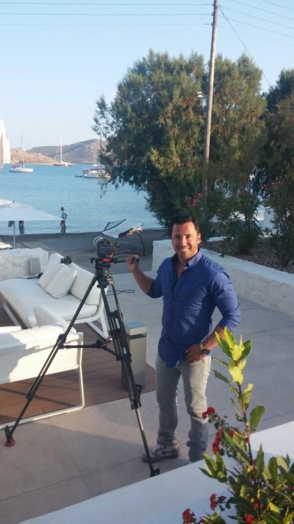 Ο Γιώργος Σατσίδης απαθανατίζει με την κάμερα του τους πρωταγωνιστές του International Film Festival of Patmos