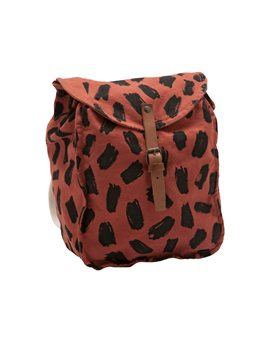 Brick Leopard Print Backpack