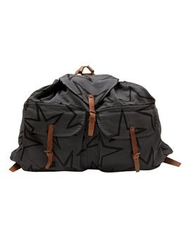 Extra Large Grey Star Print Backpack