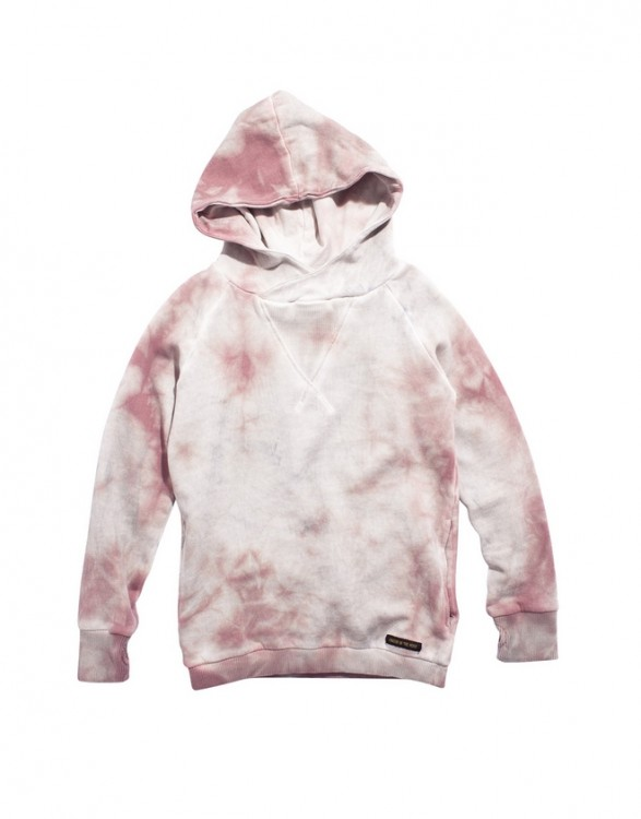 Girls Pink Tie & Dye Hooded Sweatshirt