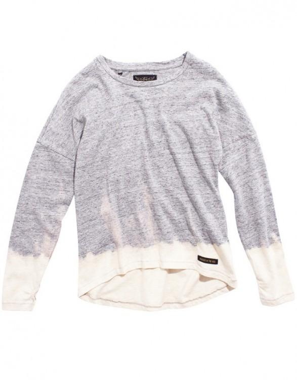 Girls Grey-Dip Bleach Long Sleeve T-Shirt