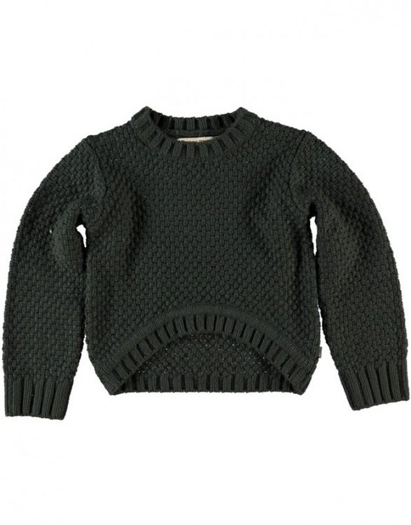 Unisex Dark Grey Cotton Knit Sweater