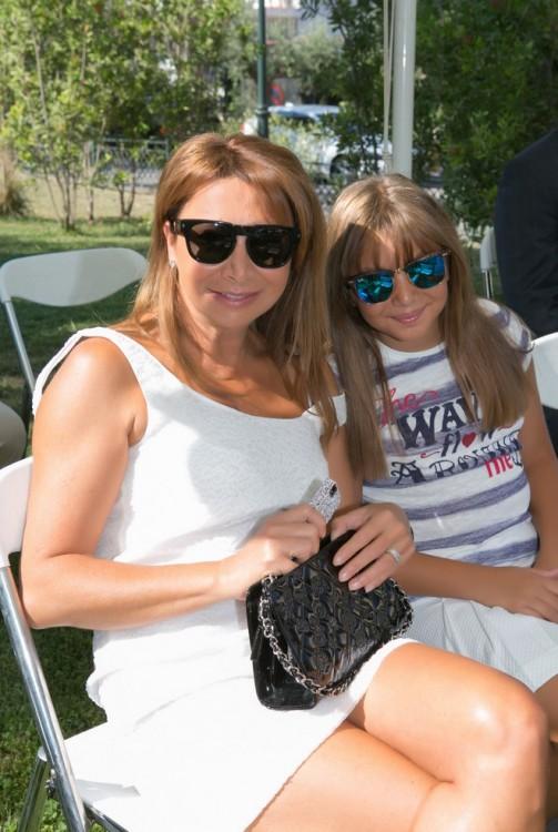 Η Σοφία Κούστα με την κόρη της, Δανάη