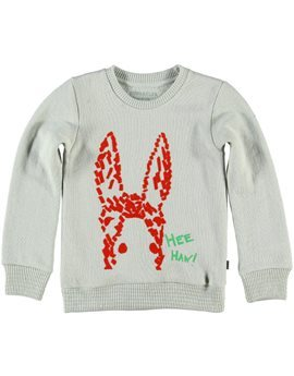 Boys Light Grey Donkey Print Sweatshirt