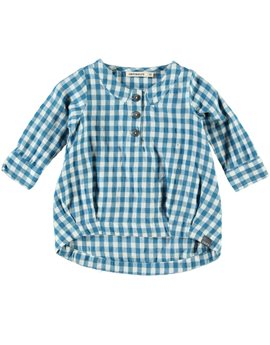 Baby Girl Turquoise Check Dress