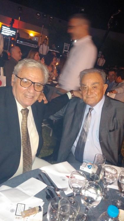 Ο Διευ/νων Σύμβουλος του Καναλιού (και πατέρας μου) Δημήτρης Μπέης με τον Πρόεδρο του Καναλιού Σεραφείμ Φυντανίδη